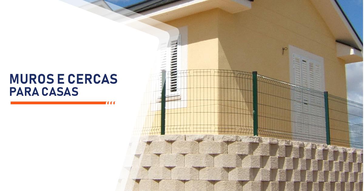 Construção de Muros e Cercas para Casas